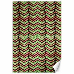 Zig Zag Multicolored Ethnic Pattern Canvas 12  X 18