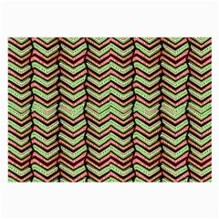 Zig Zag Multicolored Ethnic Pattern Large Glasses Cloth