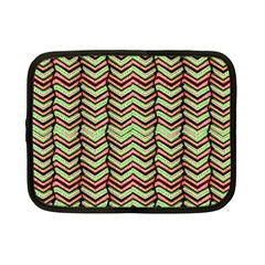 Zig Zag Multicolored Ethnic Pattern Netbook Case (small)