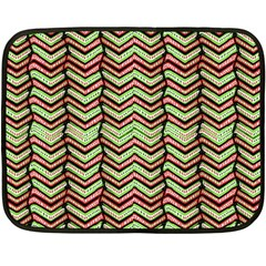 Zig Zag Multicolored Ethnic Pattern Fleece Blanket (mini)