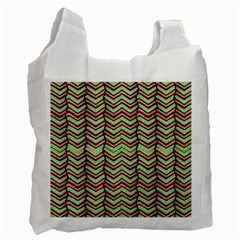 Zig Zag Multicolored Ethnic Pattern Recycle Bag (two Side)