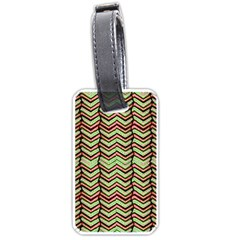 Zig Zag Multicolored Ethnic Pattern Luggage Tags (one Side)