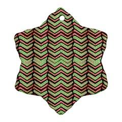 Zig Zag Multicolored Ethnic Pattern Ornament (snowflake)