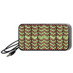 Zig Zag Multicolored Ethnic Pattern Portable Speaker