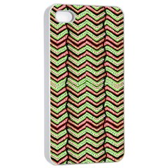 Zig Zag Multicolored Ethnic Pattern Apple Iphone 4/4s Seamless Case (white)