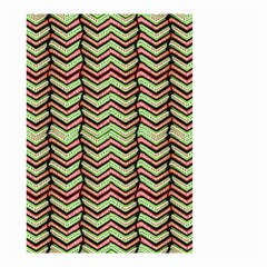 Zig Zag Multicolored Ethnic Pattern Small Garden Flag (two Sides)