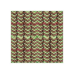 Zig Zag Multicolored Ethnic Pattern Acrylic Tangram Puzzle (4  X 4 )