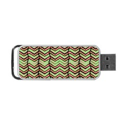 Zig Zag Multicolored Ethnic Pattern Portable Usb Flash (one Side)