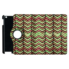 Zig Zag Multicolored Ethnic Pattern Apple Ipad 2 Flip 360 Case