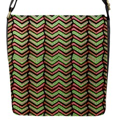 Zig Zag Multicolored Ethnic Pattern Flap Messenger Bag (s)