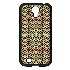 Zig Zag Multicolored Ethnic Pattern Samsung Galaxy S4 I9500/ I9505 Case (black)