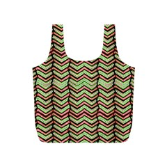 Zig Zag Multicolored Ethnic Pattern Full Print Recycle Bags (s)