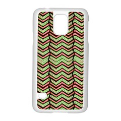Zig Zag Multicolored Ethnic Pattern Samsung Galaxy S5 Case (white)