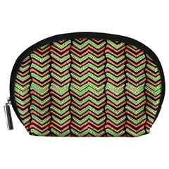 Zig Zag Multicolored Ethnic Pattern Accessory Pouches (large)
