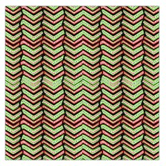 Zig Zag Multicolored Ethnic Pattern Large Satin Scarf (square)