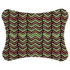 Zig Zag Multicolored Ethnic Pattern Jigsaw Puzzle Photo Stand (bow)