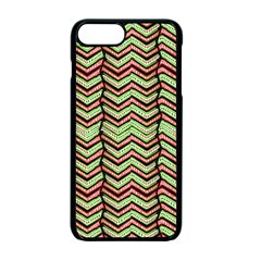 Zig Zag Multicolored Ethnic Pattern Apple Iphone 7 Plus Seamless Case (black)