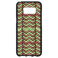 Zig Zag Multicolored Ethnic Pattern Samsung Galaxy S8 Black Seamless Case