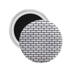 Brick1 Black Marble & White Leather 2 25  Magnets