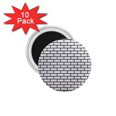 Brick1 Black Marble & White Leather 1 75  Magnets (10 Pack)