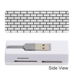 Brick1 Black Marble & White Leather Memory Card Reader (stick)