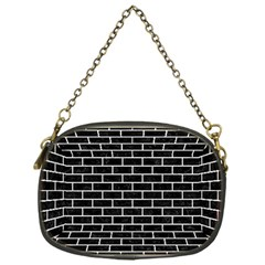 Brick1 Black Marble & White Leather (r) Chain Purses (one Side)