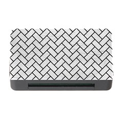 Brick2 Black Marble & White Leather Memory Card Reader With Cf