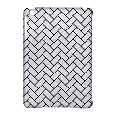 Brick2 Black Marble & White Leather Apple Ipad Mini Hardshell Case (compatible With Smart Cover)