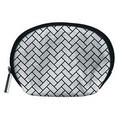 Brick2 Black Marble & White Leather Accessory Pouches (medium)