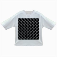 Brick2 Black Marble & White Leather (r) Infant/toddler T Shirts