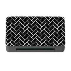Brick2 Black Marble & White Leather (r) Memory Card Reader With Cf