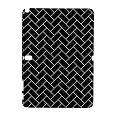 Brick2 Black Marble & White Leather (r) Galaxy Note 1