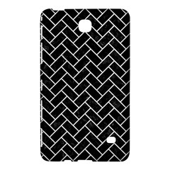 Brick2 Black Marble & White Leather (r) Samsung Galaxy Tab 4 (7 ) Hardshell Case