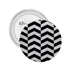 Chevron2 Black Marble & White Leather 2 25  Buttons