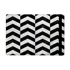 Chevron2 Black Marble & White Leather Ipad Mini 2 Flip Cases