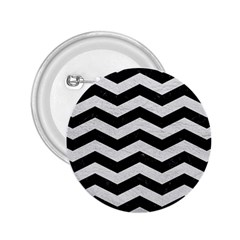 Chevron3 Black Marble & White Leather 2 25  Buttons