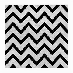 Chevron9 Black Marble & White Leather Medium Glasses Cloth (2 Side)