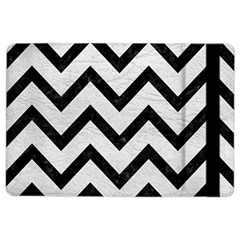 Chevron9 Black Marble & White Leather Ipad Air 2 Flip