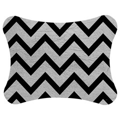 Chevron9 Black Marble & White Leather Jigsaw Puzzle Photo Stand (bow)