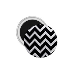 Chevron9 Black Marble & White Leather (r) 1 75  Magnets
