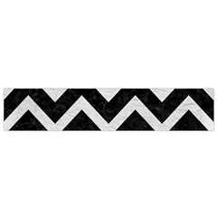 Chevron9 Black Marble & White Leather (r) Small Flano Scarf