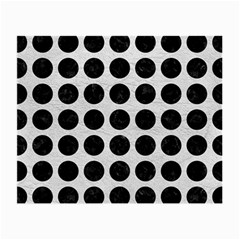 Circles1 Black Marble & White Leather Small Glasses Cloth
