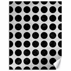 Circles1 Black Marble & White Leather Canvas 18  X 24