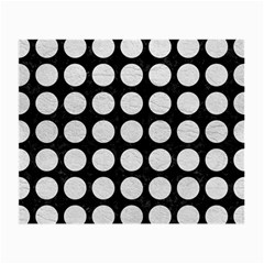 Circles1 Black Marble & White Leather (r) Small Glasses Cloth