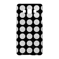 Circles1 Black Marble & White Leather (r) Samsung Galaxy A5 Hardshell Case