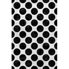 Circles2 Black Marble & White Leather 5 5  X 8 5  Notebooks