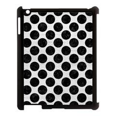 Circles2 Black Marble & White Leather Apple Ipad 3/4 Case (black)