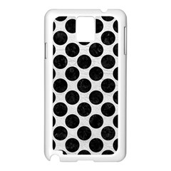 Circles2 Black Marble & White Leather Samsung Galaxy Note 3 N9005 Case (white)