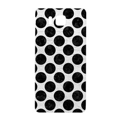 Circles2 Black Marble & White Leather Samsung Galaxy Alpha Hardshell Back Case