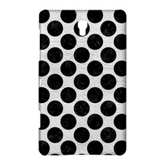 Circles2 Black Marble & White Leather Samsung Galaxy Tab S (8 4 ) Hardshell Case